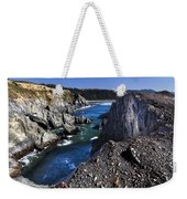 On The Edge Of The Blue Lagoon Weekender Tote Bag