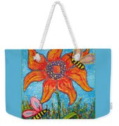 On The Flower Weekender Tote Bag