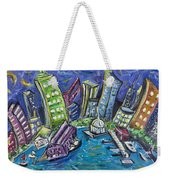 On The Hudson Weekender Tote Bag
