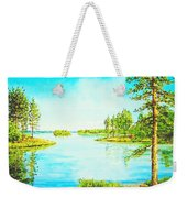 On The Lake In A Sunny Day 2 Weekender Tote Bag