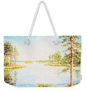 On The Lake In A Sunny Day Weekender Tote Bag