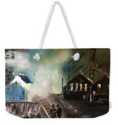 On The Pennsylvania Tracks Weekender Tote Bag by Denise Tomasura