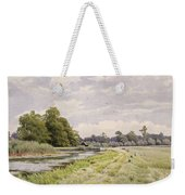 On The River Ouse Hemingford Grey Weekender Tote Bag