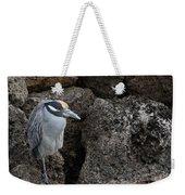 On The Rocks - Yellow-crowned Night Heron Weekender Tote Bag