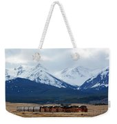 On The Rocky Mountain Front Weekender Tote Bag