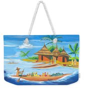 On The Shores Of Lake Kivu In Congo Weekender Tote Bag