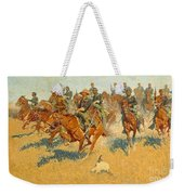 On The Southern Plains Frederic Remington Weekender Tote Bag