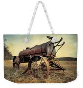 On The Water Wagon - Agricultural Relic Weekender Tote Bag by Gary Heller