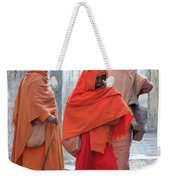 On The Way To Morning Prayers - India Weekender Tote Bag