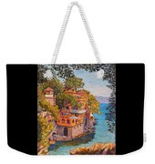 On The Way To Portofino Weekender Tote Bag