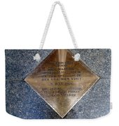 On This Spot Stood Her Majesty Weekender Tote Bag