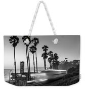 On Time Black And White Weekender Tote Bag