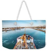 On Top Uscg Cutter Mackinaw -1014 Weekender Tote Bag