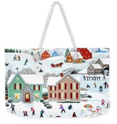 Once Upon A Winter Weekender Tote Bag
