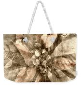 Once Upon Grandmom's Poinsettia Weekender Tote Bag