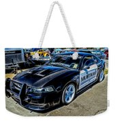 One Bad Ass Squad Car Weekender Tote Bag