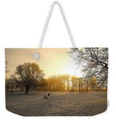 One Cold Morning Weekender Tote Bag