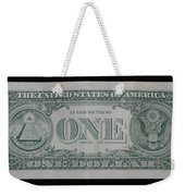 One Green Back Weekender Tote Bag