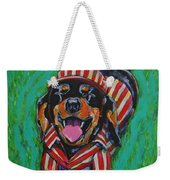 One Lucky Dog Weekender Tote Bag