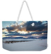 One More Moment - Sunburst Over White Sands New Mexico Weekender Tote Bag