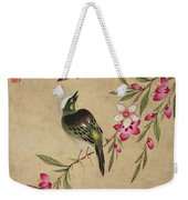 One Of A Series Of Paintings Of Birds And Fruit, Late 19th Century Weekender Tote Bag