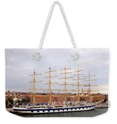 One Of Star Clipper's Masted Cruise Liners Docked In Venice Italy Weekender Tote Bag