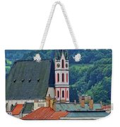 One Of The Churches In Cesky Kumlov In The Czech Republic Weekender Tote Bag