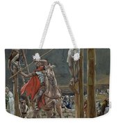 One Of The Soldiers With A Spear Pierced His Side Weekender Tote Bag by Tissot