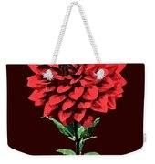 One Red Dahlia Weekender Tote Bag