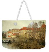 One Side On A River Weekender Tote Bag