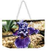 One Sole Iris In Bloom Weekender Tote Bag