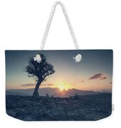 One Tree And Sunset Weekender Tote Bag