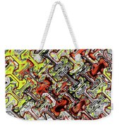 One Version Yellow And Red Abstract Weekender Tote Bag