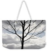 One Winter Tree With Clouds Weekender Tote Bag
