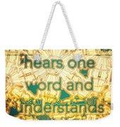 One Word Weekender Tote Bag