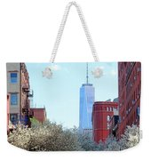 One World Trade Center In Spring Weekender Tote Bag