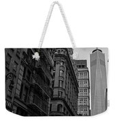 One World Trade Center New York Ny From Nassau Street Black And White Weekender Tote Bag