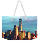 One World Trade Sunset Spectacle Weekender Tote Bag
