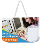 Online Support Phone Number For Quickbooks Enterprise Weekender Tote Bag