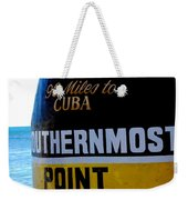 Only 90 Miles To Cuba Weekender Tote Bag