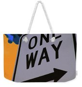 Only One Way Weekender Tote Bag