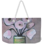 Only White Flowers Weekender Tote Bag