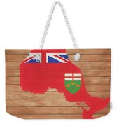 Ontario Rustic Map On Wood Weekender Tote Bag