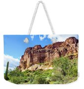 Onward And Upward At The Superstition Mountains Of Arizona Weekender Tote Bag