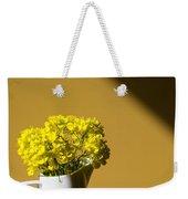 Good Morning Sunshine- Rapeseed Flowers And White Mug   Weekender Tote Bag