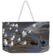 Ducklings In Trouble - Oops Not Into Diversity Weekender Tote Bag