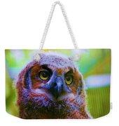 Opalescent Owl Weekender Tote Bag