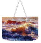 Opalescent Sea Weekender Tote Bag