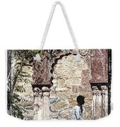 Open Air Bed Among The Arches India Rajasthan 1c Weekender Tote Bag