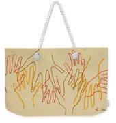 Open Hands Drawing Weekender Tote Bag
